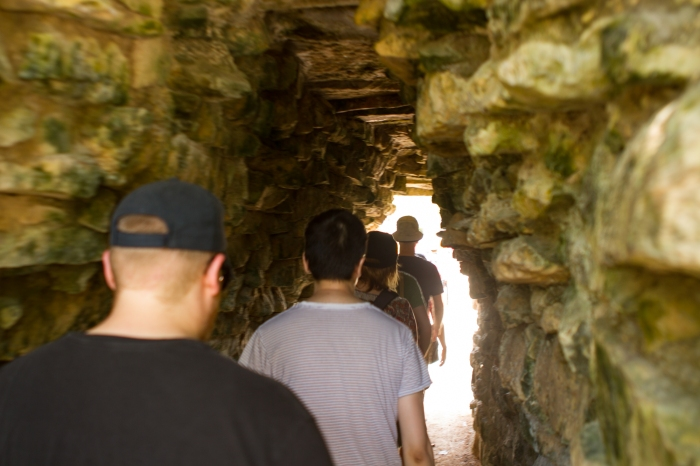 editors in a mayan tunnel, or possibly having a near-death experience