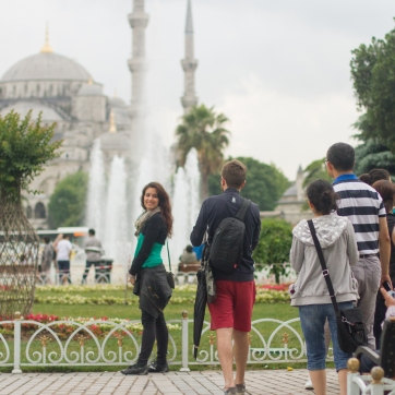 pose two: does my ass look big in front of this mosque?