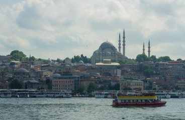 crossing the galata