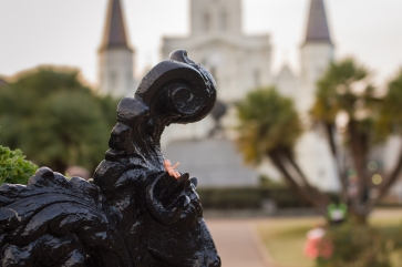 henri takes a load off in jackson square